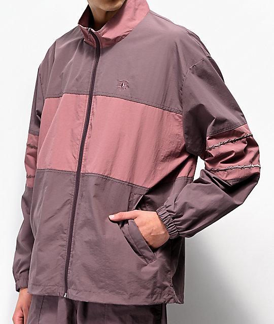 41f212c54 Deathworld Warm Up Purple Windbreaker Jacket.   Zumiez