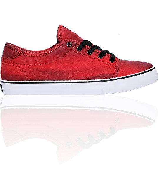 Canvas Santa Fe >> On Sale Dekline Santa Fe Red Black Bleach Canvas Skate