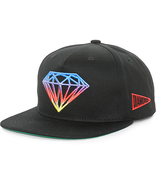 aa9f284d0dac91 Diamond Supply Co Brilliant Gradient Tie Dye Snapback Hat | Zumiez