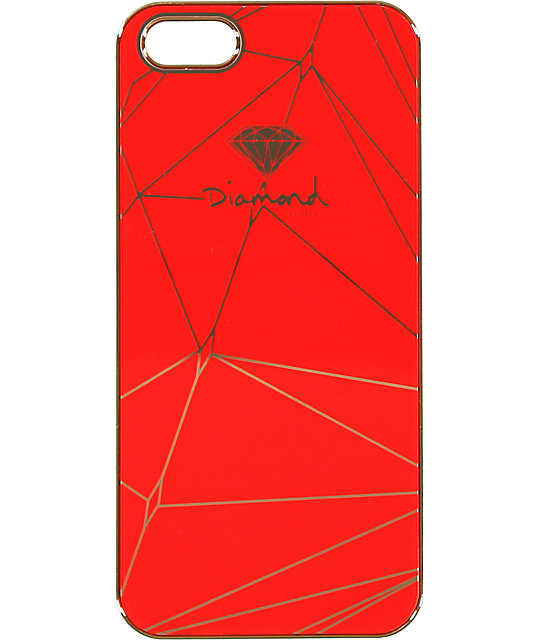 check out 39771 1edee Diamond Supply Co Brilliant Red & Gold iPhone 5 Snap Case