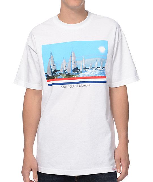new product dfd22 13510 Diamond Supply Co Yacht Club De Diamant White T-Shirt   Zumiez