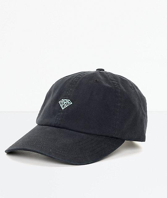 c1b5a8c7328c35 Diamond Supply Co. Brilliant Black & Blue Strapback Hat | Zumiez