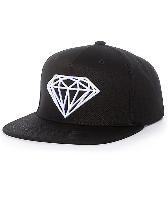848f65428b5092 Diamond Supply Co. Brilliant Black & White Snapback Hat | Zumiez