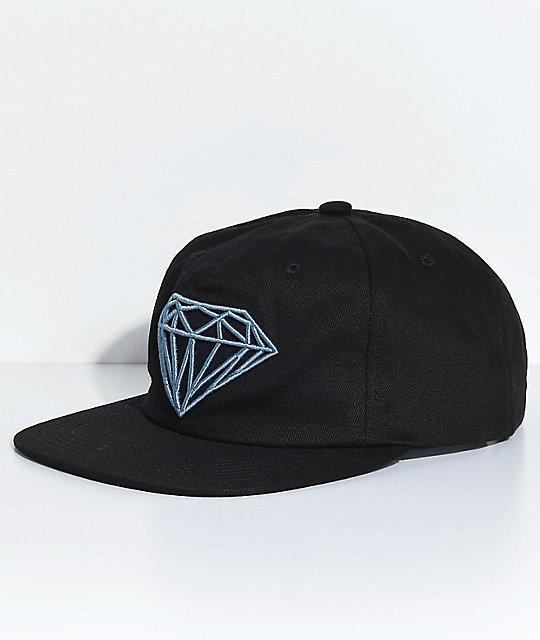 88e072f7b355a2 Diamond Supply Co. Brilliant Unstructured Black Snapback Hat | Zumiez