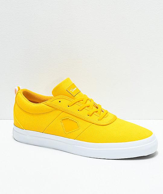 d110a9d4a26a2 Diamond Supply Co. Icon Mustard Yellow Canvas Skate Shoes | Zumiez
