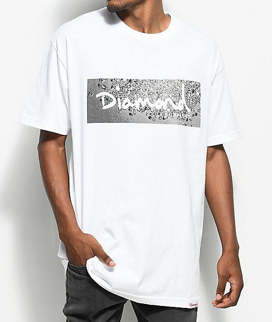 53bd33a371e3 Diamond Supply Co. Scattered Box Logo White T-Shirt | Zumiez