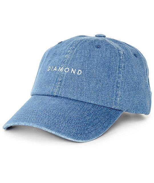 Diamond Supply Co. Stone Cut Denim Baseball Hat  fe5558ad57e