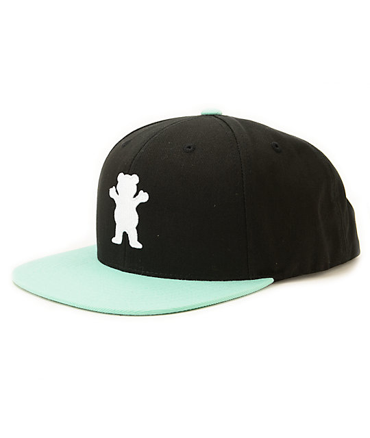 be36bf1b504b3b Diamond Supply Co. X Grizzly OG Logo Black Snapback Hat | Zumiez