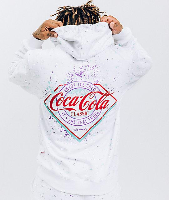 d146db5cff Diamond Supply Co. x Coca-Cola Splatter Paint White Hoodie