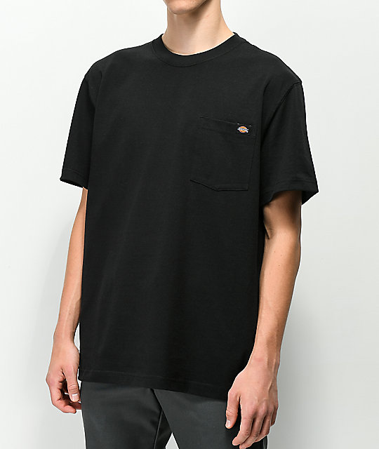 56f281beda02c Dickies Black Heavyweight Pocket T-Shirt | Zumiez