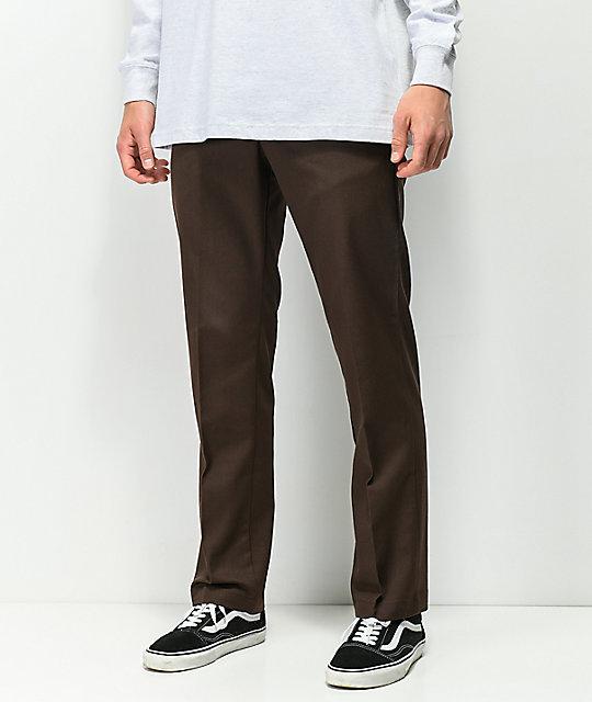 fb6f9ee67b4 Dickies Flex pantalones de trabajo en marrón   Zumiez