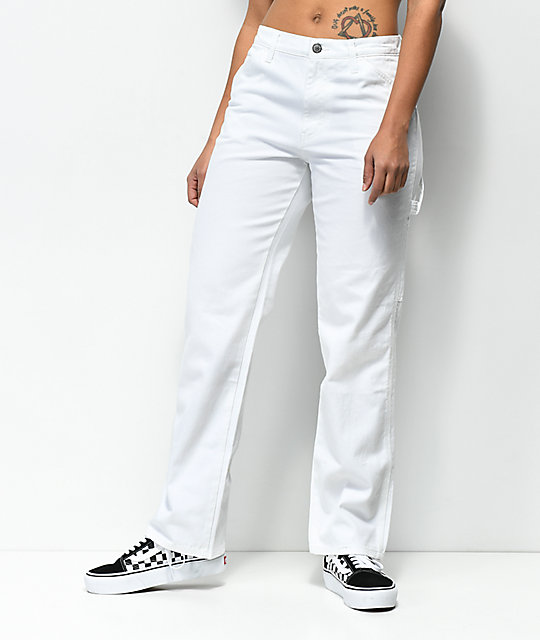 24bed6abd Dickies White Carpenter Pants