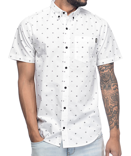 Dravus Danny White Short Sleeve Button Up Shirt Zumiez