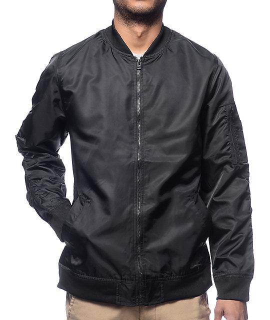 cc88ec4d92ce Elwood Black Nylon Bomber Jacket | Zumiez