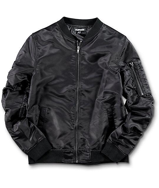 55a2abb74aa6 Elwood Boys Black Bomber Jacket | Zumiez