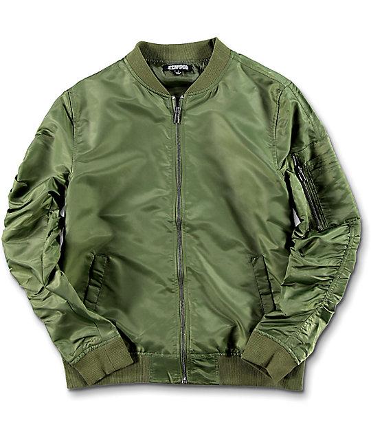 7429a304c14f Elwood Boys Olive Bomber Jacket | Zumiez