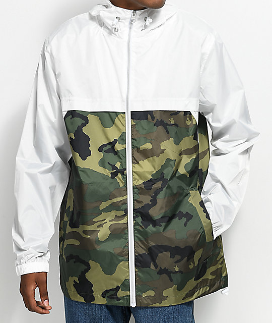 the best attitude a324d ae4c4 Empyre Jet Camo & White Hooded Windbreaker Jacket