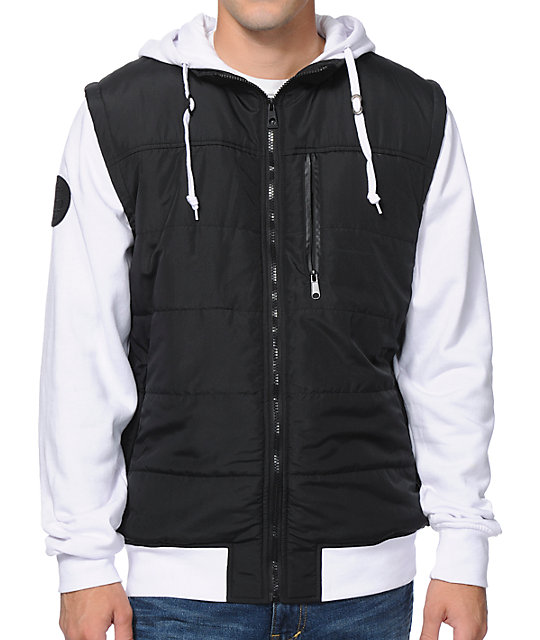 983a791c1 Empyre Special Ops Black & White Zip Up Hooded Vest Jacket | Zumiez
