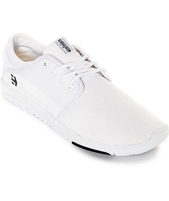 Etnies Scout White & Black Mesh Shoes