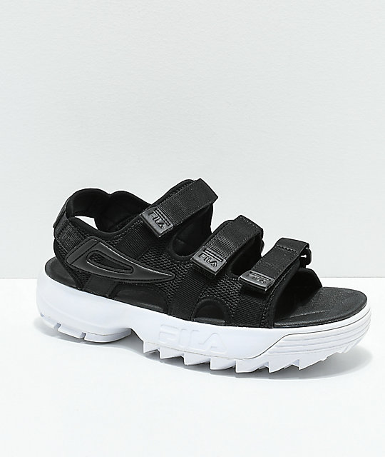 c1e7d88b1 FILA Disruptor Black Platform Sandal | Zumiez