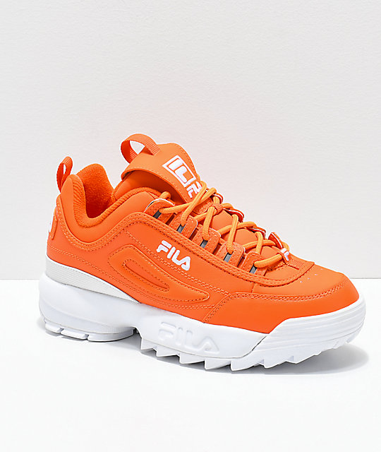 6db352fd44a2 FILA Disruptor II Orange Shoes