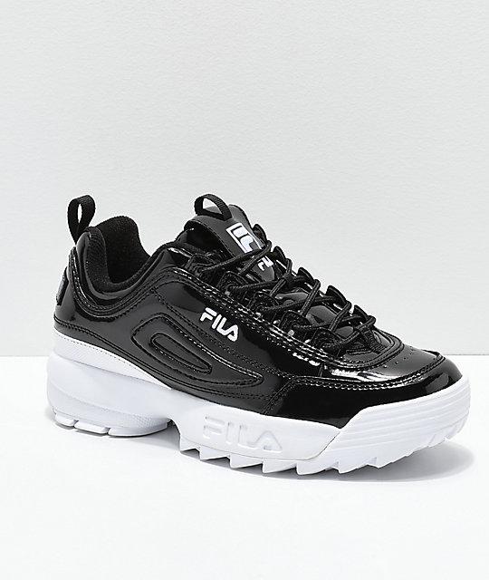 Fila Disruptor Ii Premium Patent Leather Shoes Zumiez