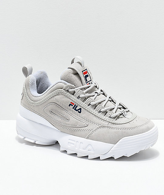 11ca5fdb5643 FILA Disruptor II Premium Suede Grey Shoes