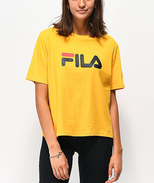5d0e33e94e3c FILA Miss Eagle Gold T-Shirt   Zumiez