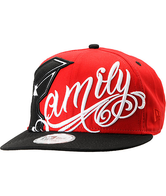 3cc2b5b455fea5 Famous Stars & Straps Always Family Red New Era Snapback Hat | Zumiez