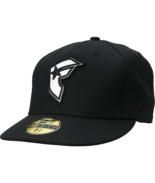 f685d3c3cff15a Famous Stars & Straps Original Black and White New Era Fitted Hat ...