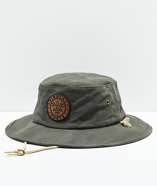 e6b8fca8a7e1 Findlay Dog Wood Olive Boonie Bucket Hat | Zumiez