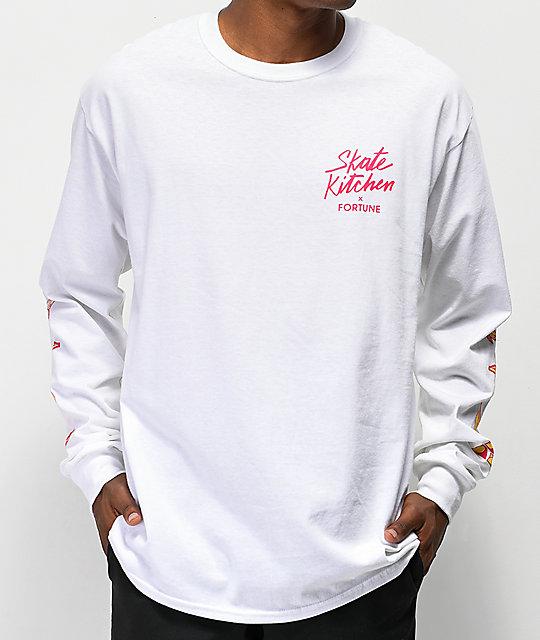 49e4cb737f2e Fortune x Skate Kitchen White Long Sleeve T-Shirt | Zumiez