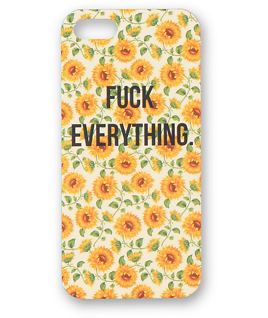 new style b47ff b22df Fuck Everything iPhone 5 Case