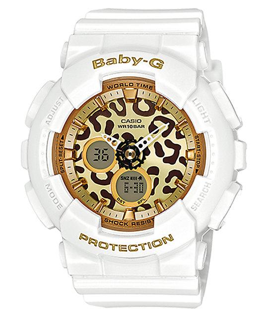 d6cc4518b G-Shock Baby-G BA120LP-7A2 Ana-Digi Leopard White Watch | Zumiez