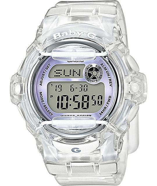 89c3da5c5 G-Shock Baby-G BG169R-7E Clear & Silver Watch   Zumiez