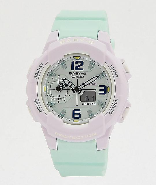 5027962a2a51 G-Shock Baby-G Mint & Lavender Digital Watch | Zumiez
