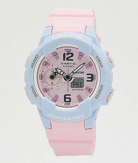 1d1acc3b9 G-Shock Baby-G Pink & Blue Digital Watch   Zumiez
