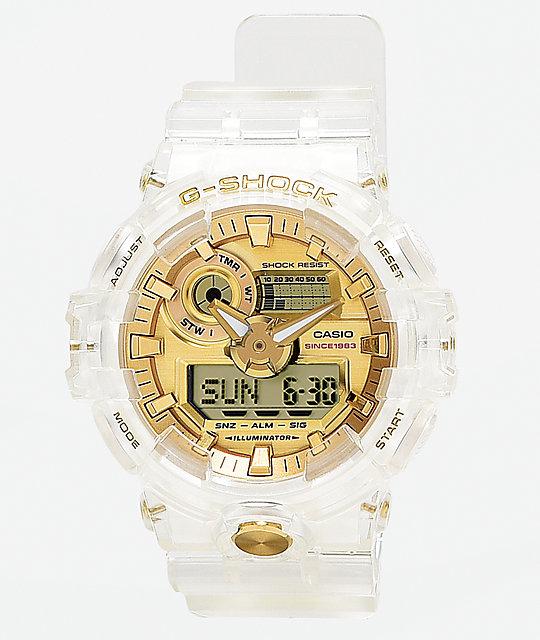 super popular 6b320 940b1 G-Shock GA735 Skeleton   Gold Watch   Zumiez