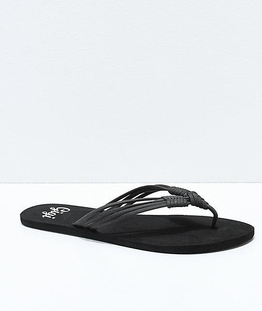 Gigi Gigi Gigi Thong Sandals Boardwalk Black Boardwalk Black Black Thong Boardwalk Sandals BxoerdCW