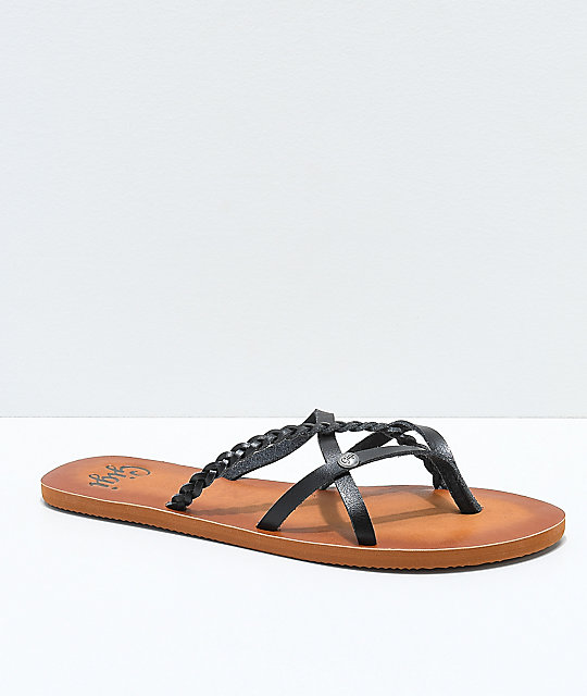 77aa7188923 Gigi Star Strappy Black Sandals