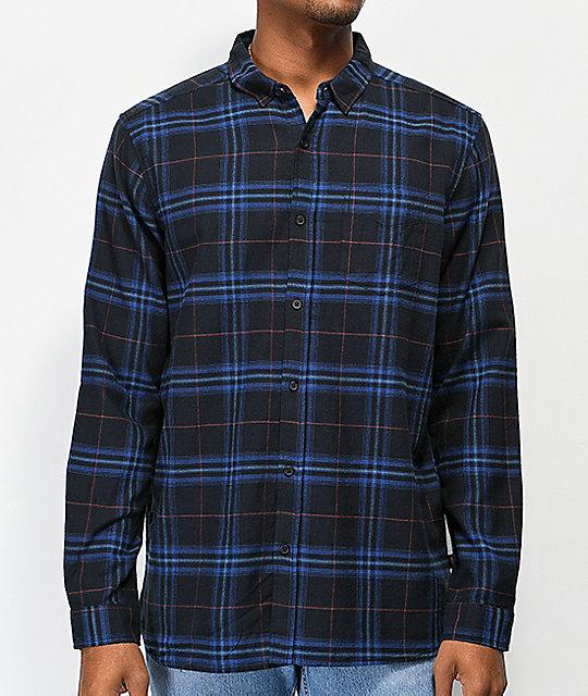 cbc72410edd9 Globe Dock Blue & Navy Flannel Shirt | Zumiez
