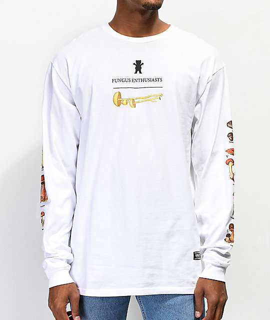 5c7337c97e46 Grizzly Fungus Enthusiasts White Long Sleeve T-Shirt | Zumiez