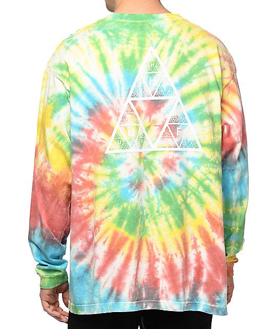 Huf Fun Rainbow Tie Dye Long Sleeve T Shirt Zumiez