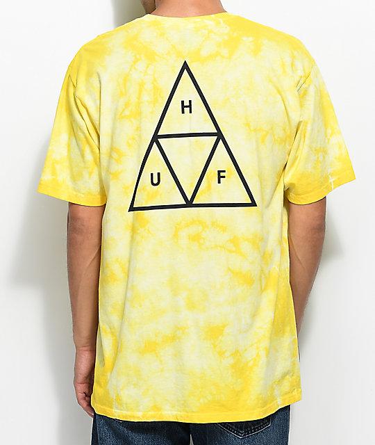 5a10a2c1f248 HUF White Wash Yellow Tie Dye T-Shirt   Zumiez