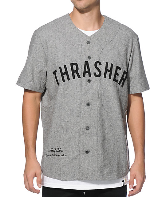 best cheap 7913e 4f581 HUF x Thrasher Vintage Baseball Jersey