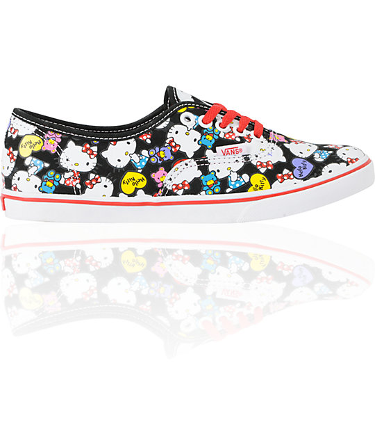 16089f1fd Hello Kitty Vans Black & Red Authentic Lo Pro Shoes | Zumiez