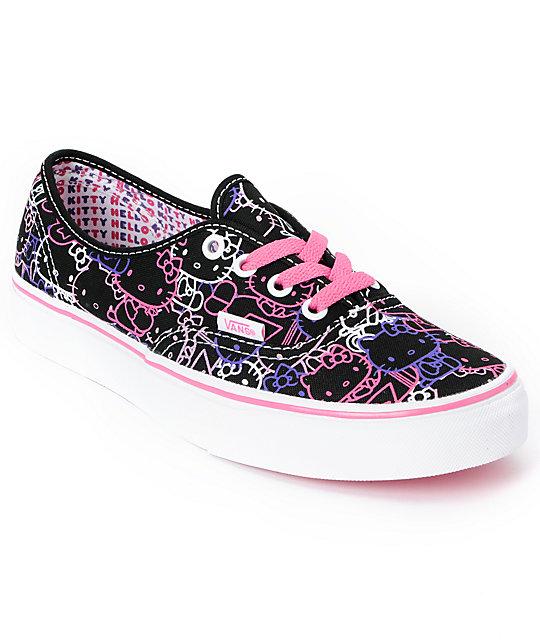 12187ec01 Hello Kitty Vans Passion Flower Pink Authentic Shoes   Zumiez