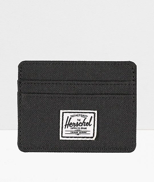 best sneakers 13d1a dcdbb Herschel Supply Co. Charlie Black Cardholder Wallet