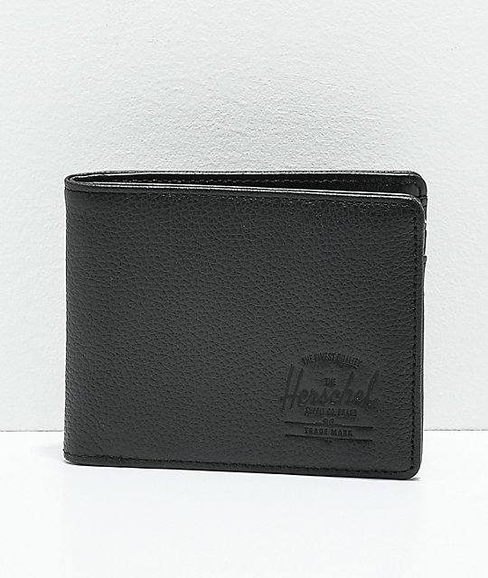 c2d05ca0e2ac Herschel Supply Co. Hank Black Pebble Leather Bifold Wallet | Zumiez