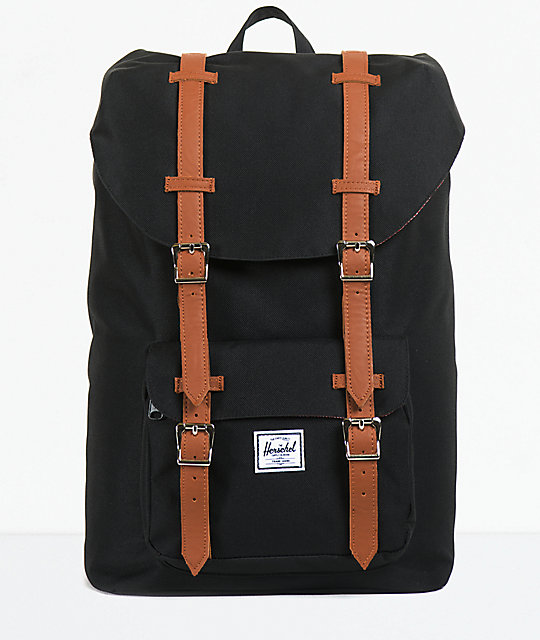 323b6894f Herschel Supply Co. Little America Black 11L Mid-Volume Backpack | Zumiez